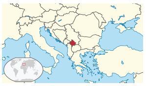 Location of Kosovo